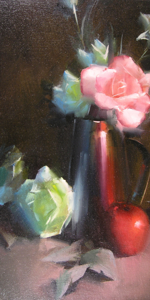 Roses with Silver