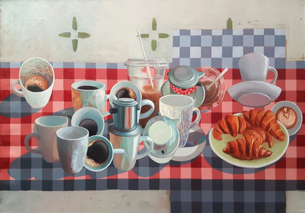 """Cezanne's Morning Coffee"" by Minh Vu"